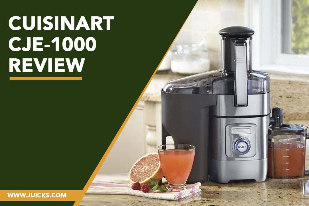 Cuisinart CJE-1000 Review